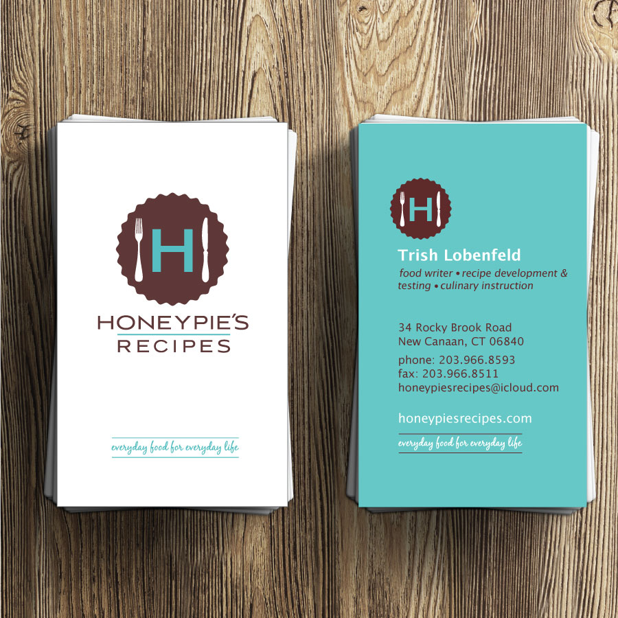 Honeypie's Recipes Business Card Design