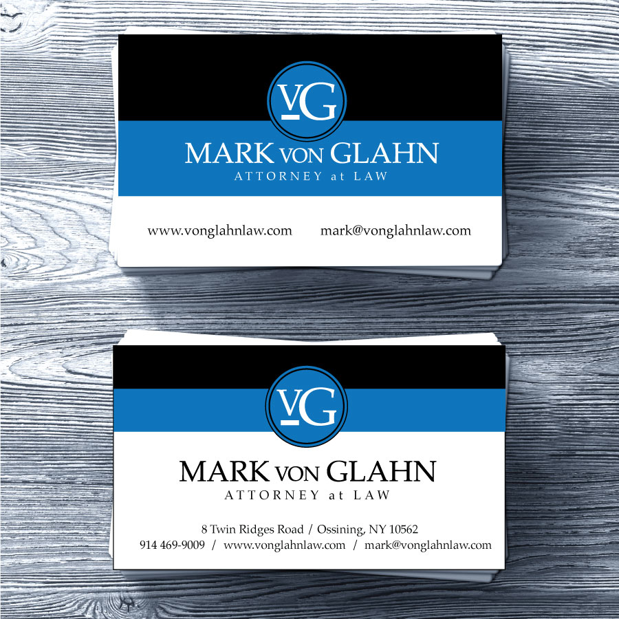 Mark Von Glahn Business Card Design