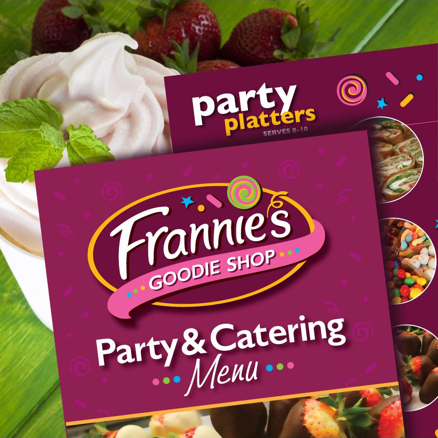 Frannie's Goodie Shop Print Menu Design