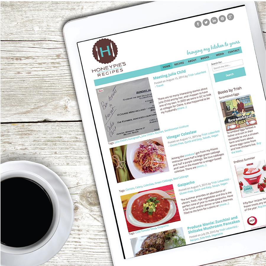 Honeypie's Recipes Website Design